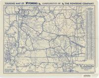 Wyoming : showing paved roads, all weather roads and other thoroughfares