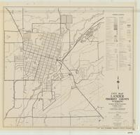 City map, Lander, Fremont County, Wyoming