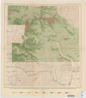 Map of Washington Forest Reserve, showing wooded, burned and restocked areas and the density of merchantable timber, in feet B.M.