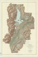 Topographic map of the Grand Teton National Park, Teton County, Wyoming, 1948