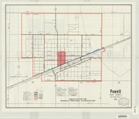 Powell, Park County, Wyoming, 1983 : urban system and roadway functional classification.