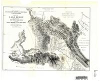 Sketch of Lake Henry, the sources of west fork of Snake River including Tahgee, Madison and Red Rocks Passes