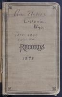 Aven Nelson collecting field book 1898 : records nos. 4501-4841 (serial arrangement)