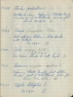 [Page of] C. L. Porter 1950, 1951, 1952 Records 5283-6224