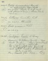 [Page of] C. L. Porter  1957-1958 Records 7248-7732