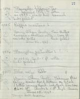 [Page of] C. L. Porter 1963-1964 Records 9223-9735