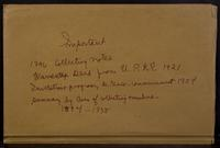 Aven Nelson collecting field book 1896 : record nos. 1894 to 1938.