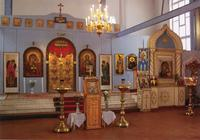 The Church in the name of the icon Kazan Mother of God. 1905. Interior.