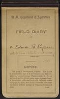 Edwin Payson collecting field book : 1917 field diary.