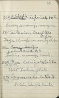 [Page of] J. Francis Macbride collecting field book 1911 : record nos. 751 to 1702.