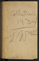 Louis Otho (Otto) Williams collecting field book 1934 : records nos. 1600-2107