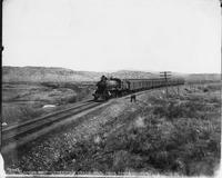 Union Pacific Fast Mail Train Number 9 Near Evanston, Wyoming