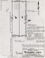 Property Survey Richards Lots lots 8 and 9, Block 56 Town of Centennial, Wyo.