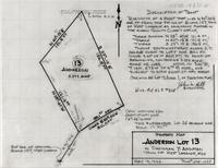 Property Map Anderson Lot 13 in Dadisman Y-Addition Twon of West Laramie, Wyo