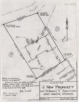 "Location-Map J. New Property Lot 13, Block 1, ""Y"" Addition West Laramie, Wyoming"