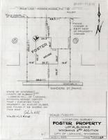 Location Survey Foster Property Lot 14, Block 5 Wyoming 3rd addition City of Laramie, Wyoming