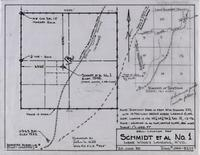 Well-Location Map Schmidt Et Al No. 1 Near Wood's Landing, Wyo.