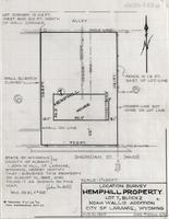 Location Survey Hemphill Property Lot 7, block 2 Noah Wallis Additon City of Laramie, Wyoming