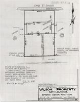 Location Survey Wilson Property Lot 11, Block 12 Spring Creek Addition City of Laramie, Wyoming