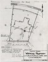 Location Survey Watkins Property Lot 8, Block 3, Spring Creek Add. City of Laramie, Wyo.