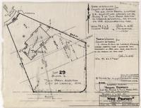 *Now: Location-Survey Thomas Property Lot 22, block 2, Twin Parks ADD. City of Laramie, WYO Former interference Diagram of Wood Property* with U.PRR. Right of Way Laramie, Wyoming