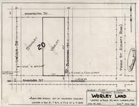 Property Survey Worley Land Located in Block 20, West Laramie, Wyo.