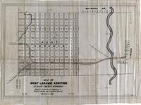 Map of West Laramie Addition Albany County, Wyoming Showing Location of Highways to Woods Landing and Centennial, Wyoming