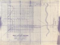 Map of West Laramie Addition Albany County, Wyoming Showing Location of Highways to Woods Land and Centennial, Wyoming