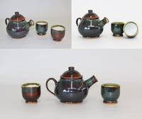 Green Teapot and Cups