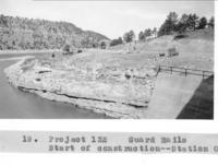 Project 132, Start Of Construction Of Guard Rails At Station 00