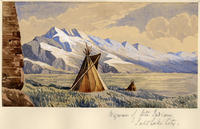 Wigwam Of Ute Indians, Salt Lake City