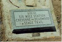 Cheyenne Deadwood Stage Marker