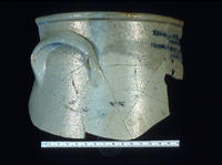 Crockery Jug Found At The Reshaw Trading Post Site