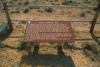 Prospect Hill Information Sign Along The Oregon Trail In Natrona County, Wyoming