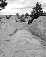 Oregon Trail Ruts Near Guernsey, Wyoming
