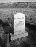 Oregon Trail Marker, (First White Man's Cabin in Wyoming)