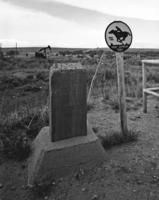 Oregon Trail Marker and Pony Express