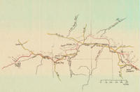 Map From the Diary of Samuel Handsaker Written in 1853 While Traveling From Scotts Bluff, Nebraska to Bear River Crossing