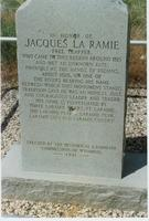 Jacques La Ramie historic marker