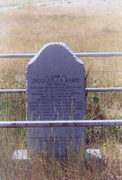Jacques LaRamie historical marker near Wheatland, Wyoming