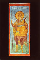 Novodevichy Convent - St. Andrew Stratelates - Fresco on North-East Pillar