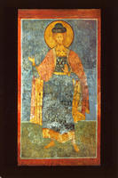 Novodevichy Convent - Holy Prince Boris - Fresco on the South-East Pillar