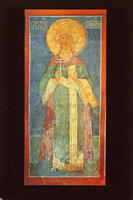 Novodevichy Convent - St. Catherine - Fresco on North-East Pillar
