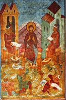 Novodevichy Convent - Much-Spoken Prophecies - (Akathistos to Mother of God - Oikos 9) - Fresco on the West Wall