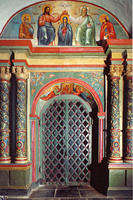 Novodevichy Convent - North Portal of the Cathedral - 17th c. 17th-19th century Frescoes