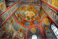 Novodevichy - Three Youths in a Fiery Furnace - Fresco in vestry conch