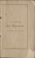The Laramie Fire Department, organized August 2nd, 1875