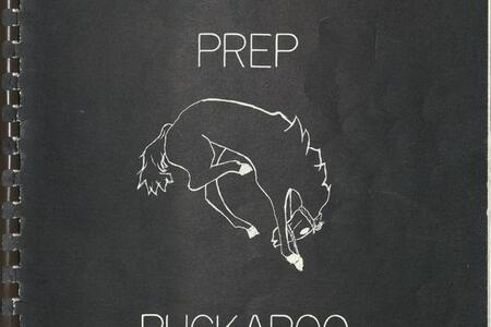 Cover of the 1977-78 edition of the Prep Buckaroo yearbook
