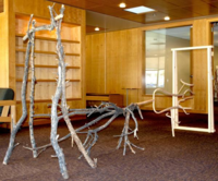 Twig sculpture by various artists