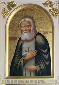 Painting of Reverend Seraphim of Sarovky